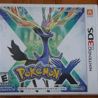 Pokemon X 3ds version US ntsc