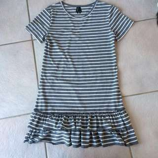Stripey huffer dress
