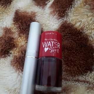 Wardah Lipstick & Etude Water Tint