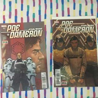 Star Wars Comics Poe Dameron 002 and 005