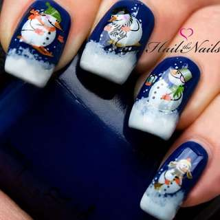 "[BRAND NEW] Christmas ""Snowman"" Nail Wraps 🎄"