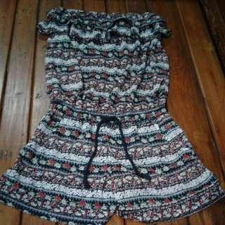 Jumpsuit Pendek Model Tube Dress
