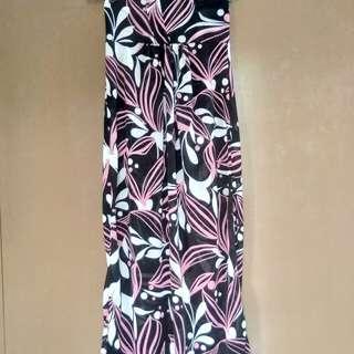 Long Neck-Strapped Dress