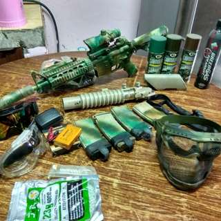 Airsoft m4/m203 grenade launcher/modified/all accesories