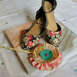 Flowery strapshoes by TLTSN