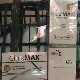GlutaMAX Instant White Lotion w/ Glutathione & GlutaMAX Lightening Soap w/ Glutathione