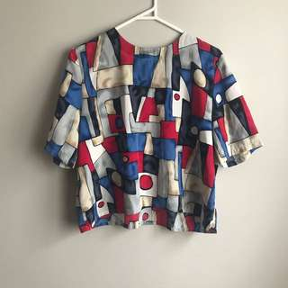 Vintage Abstract Top
