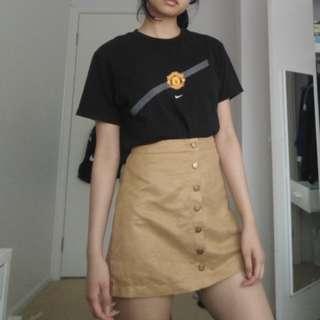 nike tee and button up skirt bundle