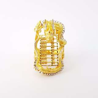 916 Gold Dragon Abacus Fortune Ring (Limited 1 Piece)