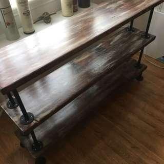 Rustic 3 tier shelf