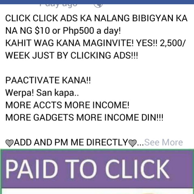10 $ or 500 per day!!!! Just by clicking