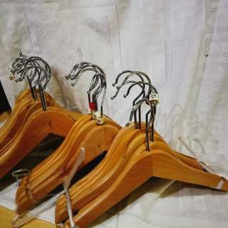 Wood hanger for kids