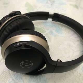 鐵三角 無線耳罩式耳機 黑