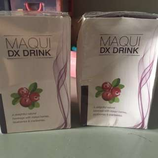 SALE!! 2 Boxes MAQUI DETOX DRINK 100% Natural Berries天然瘦身排毒果汁 (14sachets x15g/box)