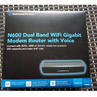 NetComm Wireless N600 Dual Band Wifi Gigiabit Modem Router with Voice