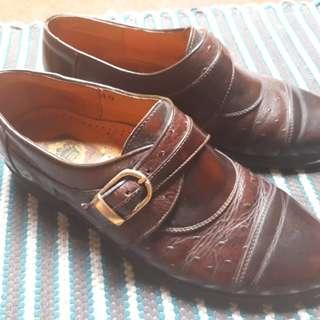 Vintage Dalilop Monkstrap British Shoes sz 40-41