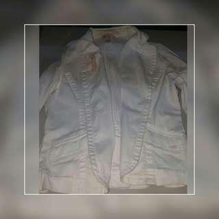 BLazer Jacket Maong Soft White