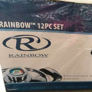 Rainbow 12 piece cookware set