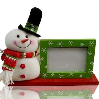 Snowman Plush Picture Frame