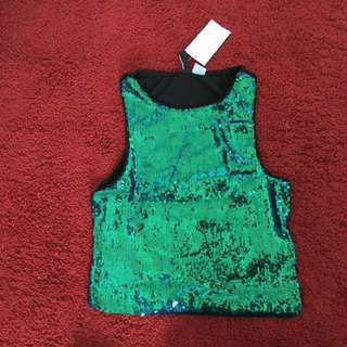 H&M Sequin Top