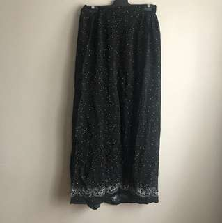Black Flowy Maxi Skirt