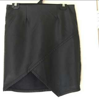 Valleygirl leather look skirt