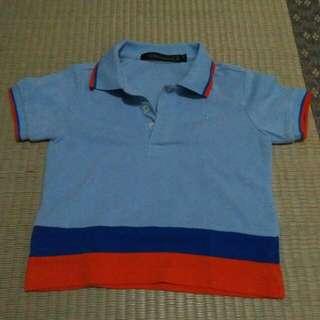 Collezione Blue and Orange Polo Shirt