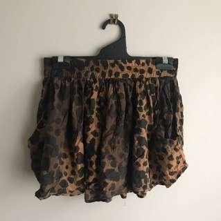 Cute Leopard Flowy Shorts