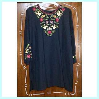 Butterfly Black Blouse / Atasan / Top