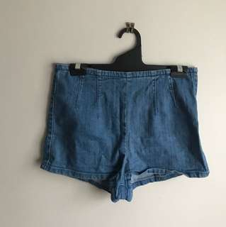 High Waisted Denim Booty Shorts