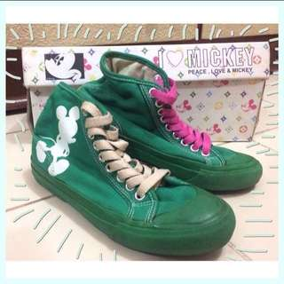 Walt Disney - I Love Mickey Green Shoes / Sneakers / Sepatu