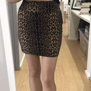 Size small Cotton On Leopard Print Skirt - brand new