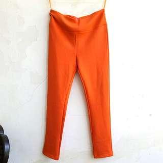 Celana panjang stretch orange