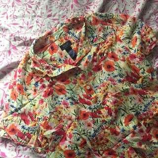 Liz Claiborne Floral Buttondown Polo
