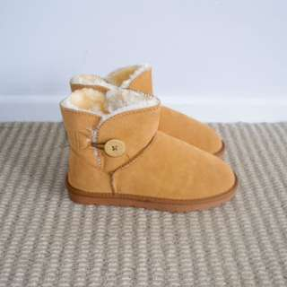 Ugg like slippers genuine suede leather