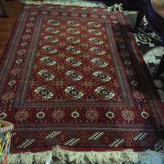 Hand Made Persian Rug Red Color