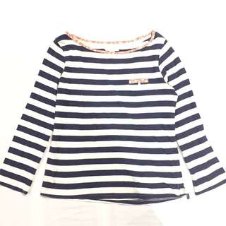 Sfera Navy and White Stripped Blouse