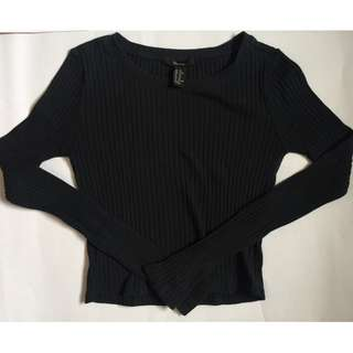 Long Sleeves Cropped Top (FOREVER 21)