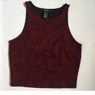Cropped Top - Sleeveless (FOREVER 21)