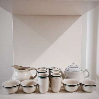 12 Piece Chinese Tea Set