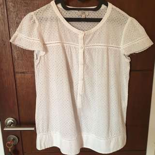 White blouse - size fit to M - L
