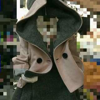 🚚 正韓兔耳造型外套
