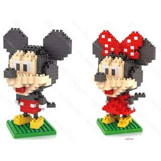 LOZ Lego Nanoblocks Disney Minnie Mickey in Marvel DC Costume Gift