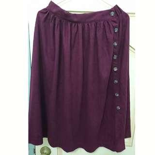 深葡萄紫長裙