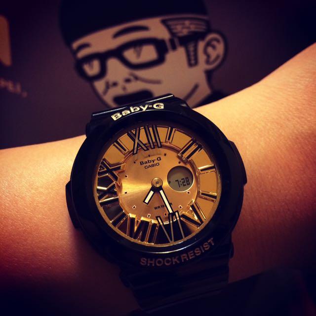 🛑驚爆價-1500,限11/4當天匯款確認🛑CASIO BABY-G 黑金金屬 時尚 運動 潮流風手錶