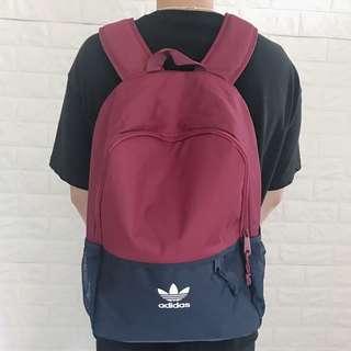 (全新)Adidas Originals雙拉鍊後背包