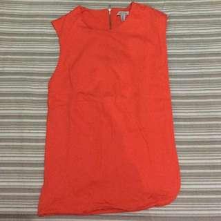 Zara Trafaluc Orange Tops