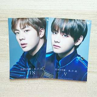 BTS Jin V Taehyung Japan album BS&T photo