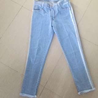 Jual rugi list boy friend jeans