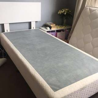 Single bed with head board